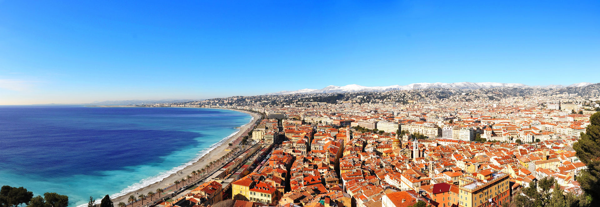 Le Vieux Nice vu du Château. Photo Gérard Perez