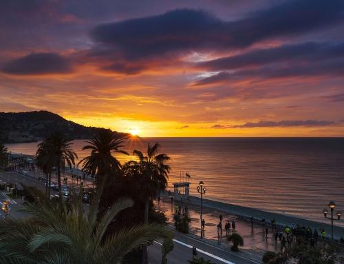 Lever de soleil sur la Promenade des Anglais, Nice Ironman