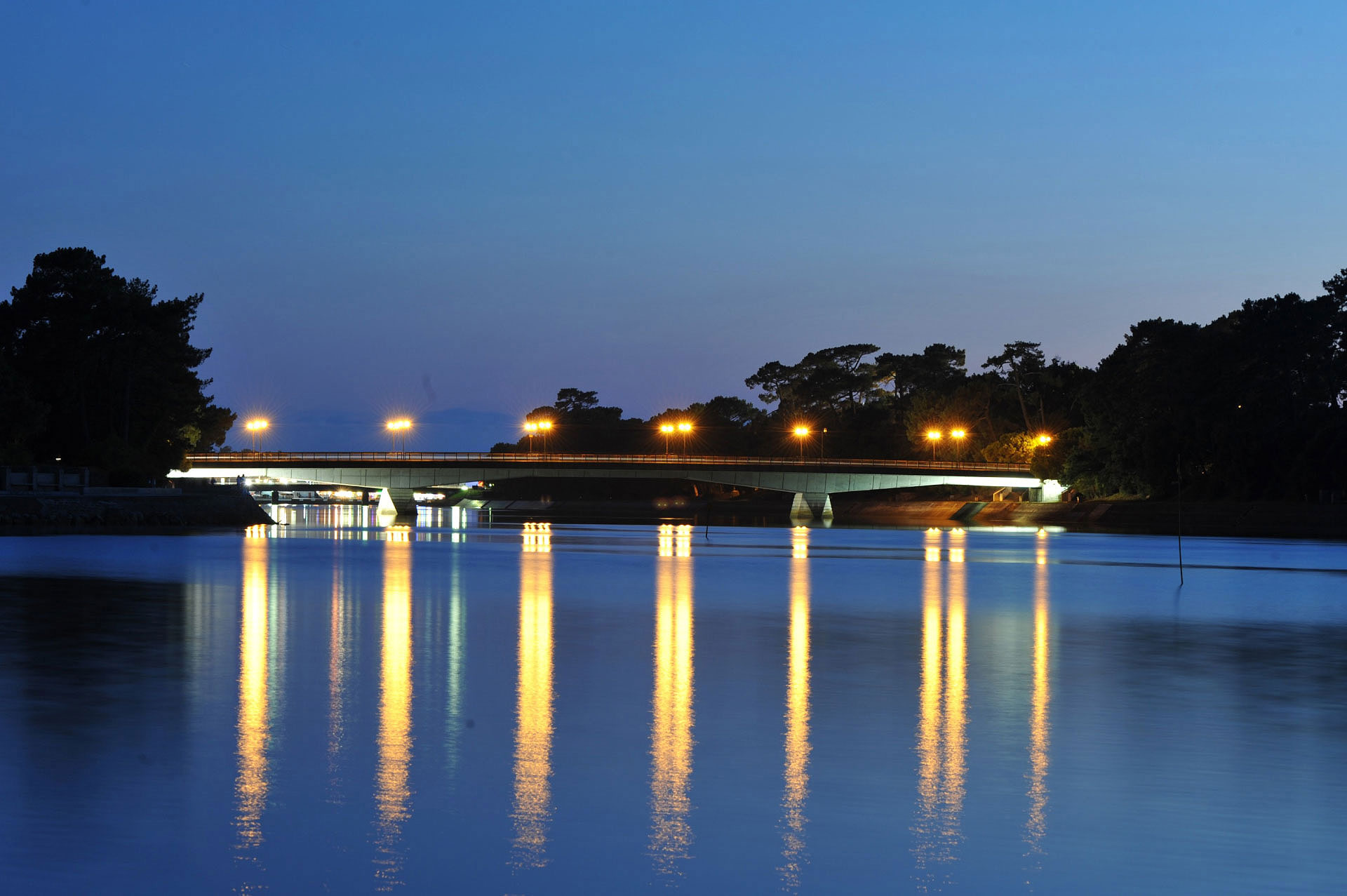 Le Pont de Cap Breton, près d'Hossegor - Photo Gérard Perez