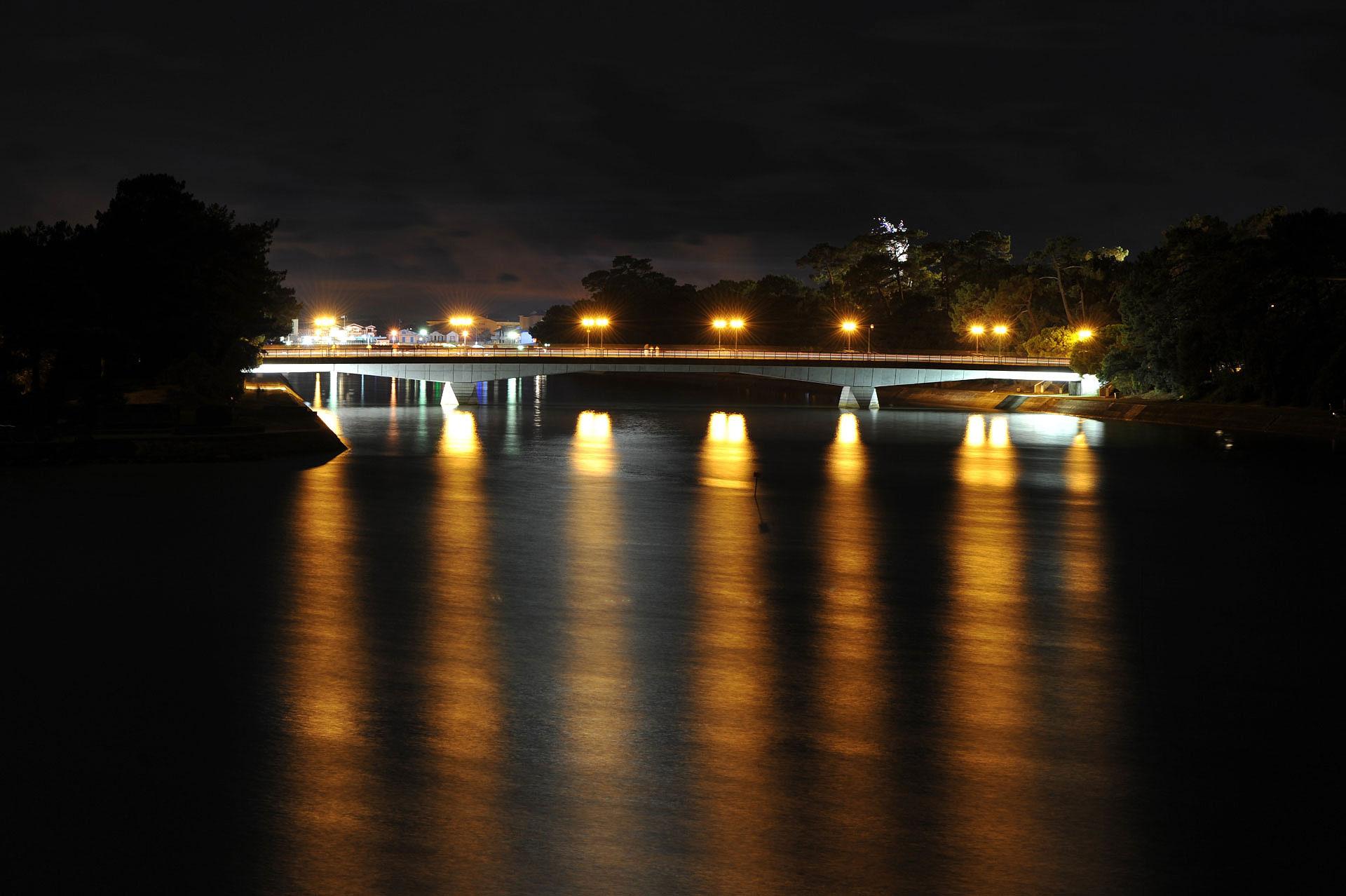 Le Pont de Cap Breton, Hossegor, 22h - Photo- Gérard Perez