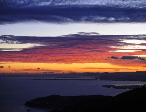 Le cap Camarat à l'aube, Saint Tropez, Côte d'Azur
