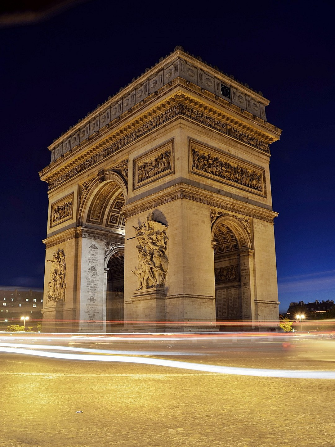 Lighting on France Landmark