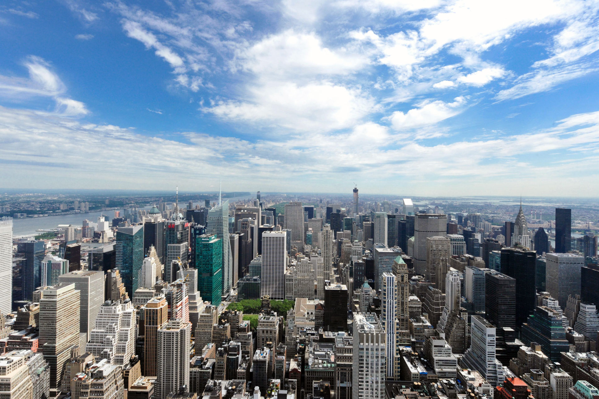 Manhattan, du sommet de l'Empire State Building. Photo Gérard Perez