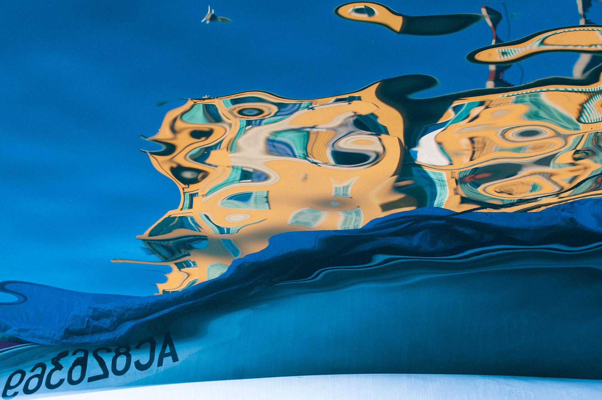 Reflet au Port de Nice. Photo Gérard Perez